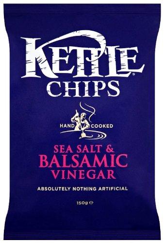 Kettle Chips Balsamic Vinegar and Sea Salt 150 g (Pack of 4)