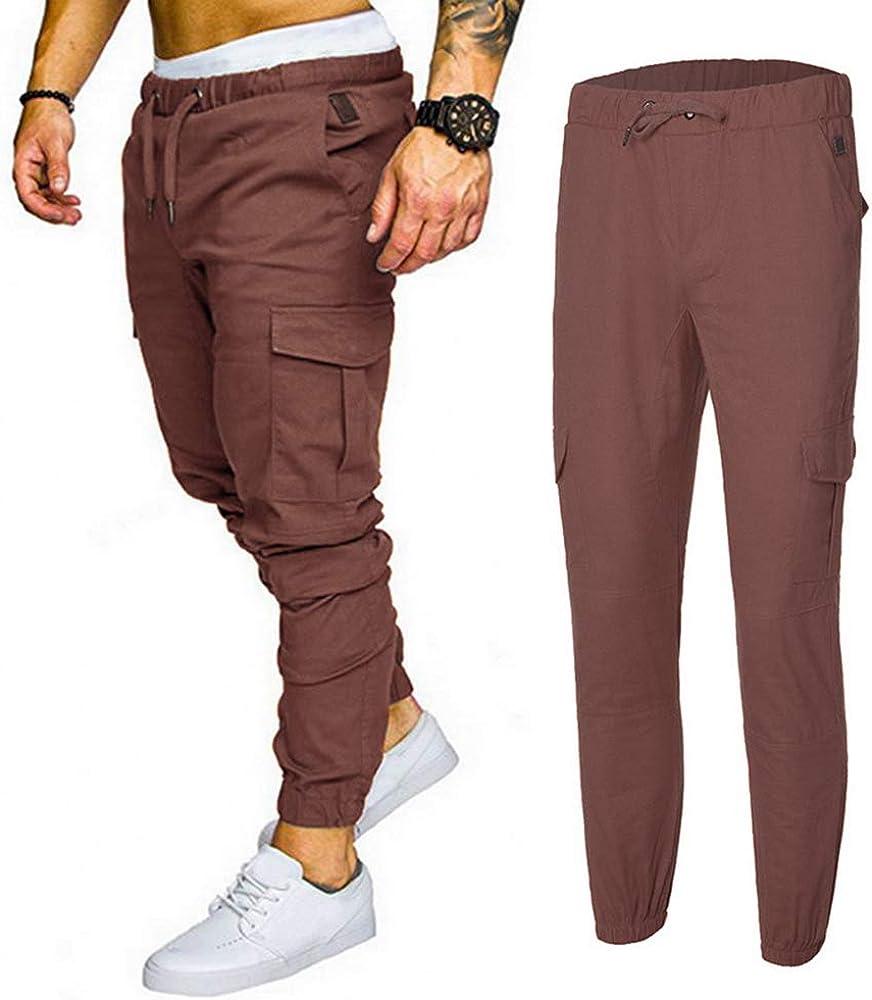 Mens Casual Pants Trousers Harem Sweatpants Slacks Casual Jogger Sportswear Baggy Comfy Pants