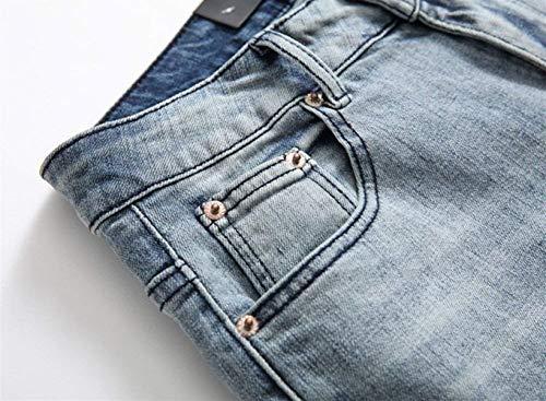 Jeans Joggers Hombres De Ripped Pantalones Pants Slim Chicos Pantalones De Moda Fit Clásico Vaqueros Stretch Pantalones Holes Vaqueros Mezclilla Retro Alsbild Sweat Los De Jeans UTfwtBqP