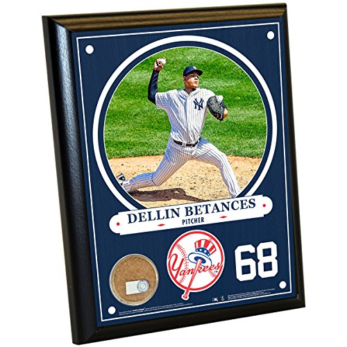MLB New York Yankees Dellin Betances Plaque with Game Used Dirt from Yankee Stadium, 8
