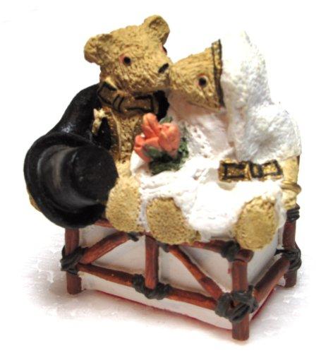 Enesco The Happy Couple Bride Groom Centimental Teddy Bear Figurine By Peter Fagan #122440
