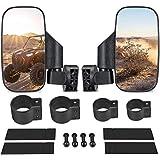 "UTV Side View Mirrors for 1.75"" - 2"" Roll Cage, Adjustable Breakaway UTV Mirrors for Polaris RZR, Can Am Commander, Maverick X3, Gator, Teryx, Rhino YXZ, RZR2020"