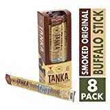 Bison Pemmican Meat Stick with Buffalo and Cranberries by Tanka, Gluten Free, Grass Fed Beef Jerky Alternative, Slow Smoked Original, 1 Ounce Stick, Pack of 8