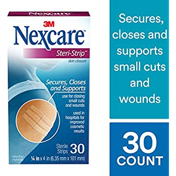 Nexcare Steri-Strip Skin Closure, Breathable, 3 Inch X 4 Inch, 30 Pack