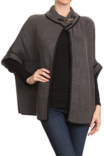 BSB LL Womens Warm Poncho Open Front With Sleeves Fall Winter Many Styles for cheap