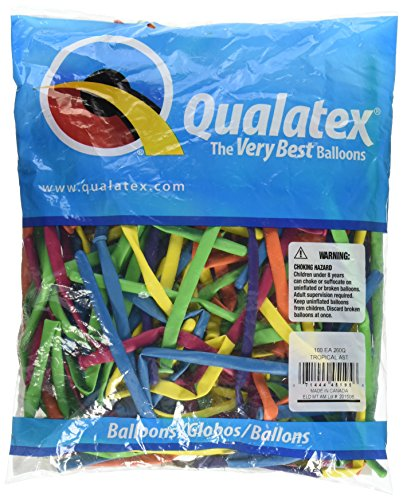 Pioneer Balloon Company 260Q Tropical Latex Balloons, Assortment