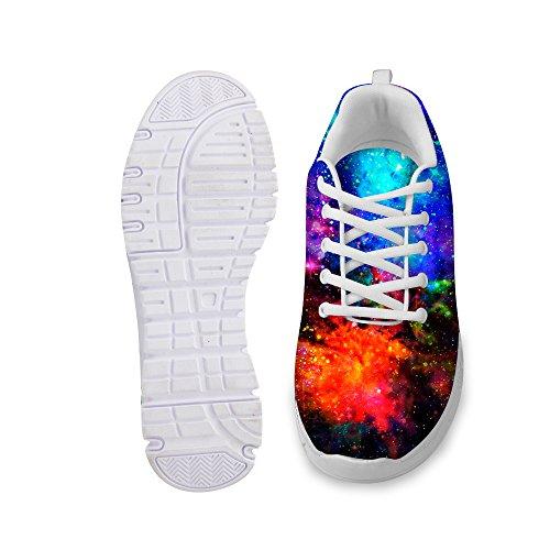 Bigcardesigns Man Kvinna Mode Galaxen Utrymme Löparskor Sneakers Snörning Sval Galax