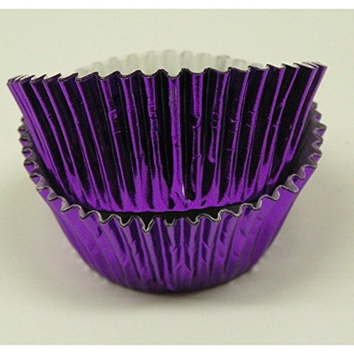 500pc Mini Size Purple Foil Baking Cup With Greaseproof Liner