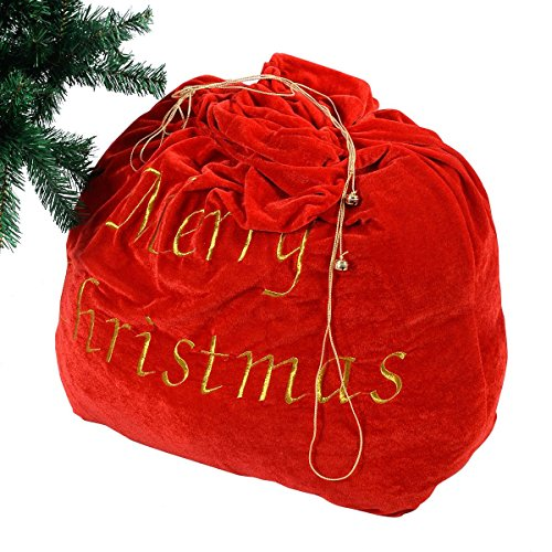 [Christmas Decoration 35'' Santa Claus Gift Bag Candy Party Cookie Bags w/Belt] (Infant Red Minnie My First Disney Costumes)