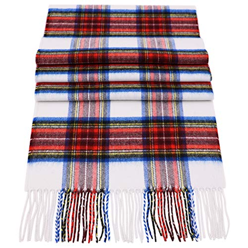 Rosemarie Collections 100% Cashmere Winter Scarf Made In Scotland (Primary Tartan)