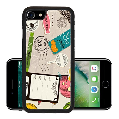 Luxlady Premium Apple iPhone 7 Aluminum Backplate Bumper Snap Case iPhone7 IMAGE ID 26453314 Vintage Halloween scrapbooking set