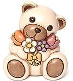 THUN Animali Teddy con Mazzo di Fiori, Ceramica, Variopinto