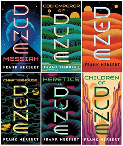 Book cover from Complete Dune Series Set ( 6 Books ) Dune; Dune Messiah; Children of Dune; God Emperor of Dune; Heretics of Dune; Chapterhouse Dune by Frank Herbert