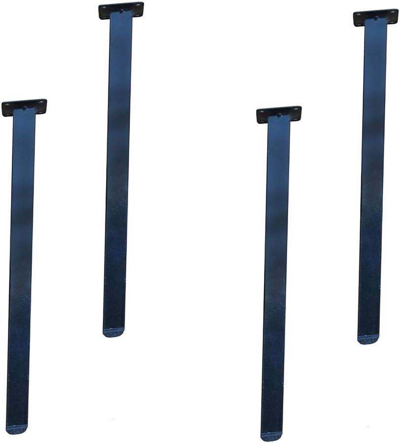 DuDu en hardware Tubo cuadrado Pies Mesa de apoyo, Muebles de Metal Elevación estera, Hierro forjado Mesa de comedor, Caja fuerte, Calefacción patas de la mesa, Hardware accesorios de bricolaje (4 pie