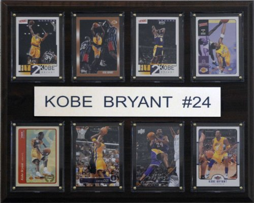 Poster Los Angeles Lakers Basketball - NBA Kobe Bryant Los Angeles Lakers 8 Card Plaque