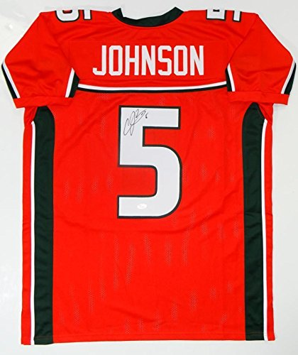 Andre Johnson Jersey - Signed Andre Johnson Jersey - Orange College Style W Auth *5 - JSA Certified - Autographed NFL Jerseys
