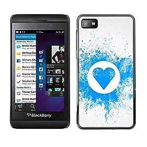 Paccase / SLIM PC / Aliminium Casa Carcasa Funda Case Cover - Splash heart pattern - Blackberry Z10
