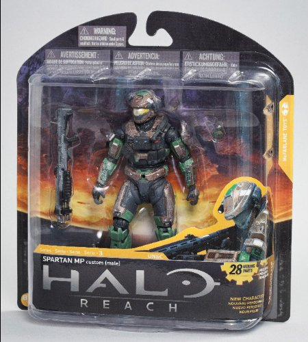 Halo Reach McFarlane Toys Series 3 Exclusive Action Figure BROWN / FOREST Spartan MP Military Police Custom (Halo Reach Security Chest)