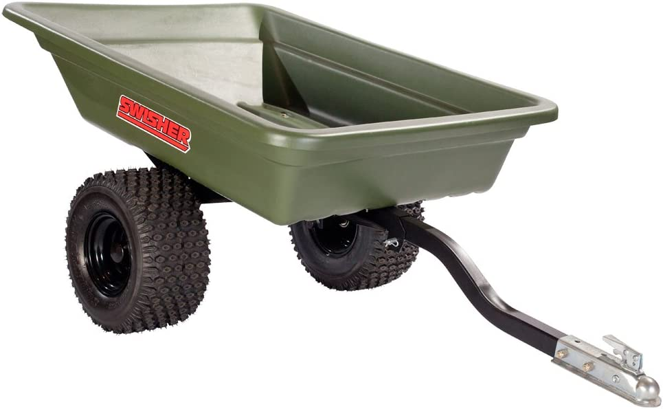 Swisher 12008A 20-Cubic Foot Multi-Purpose 1,000-Pound Capacity Poly Dump Trailer