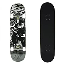 7 Plies Maple Double Kick Concave Deck Cool Grip Tape Skateboard for Primary/Intermediate