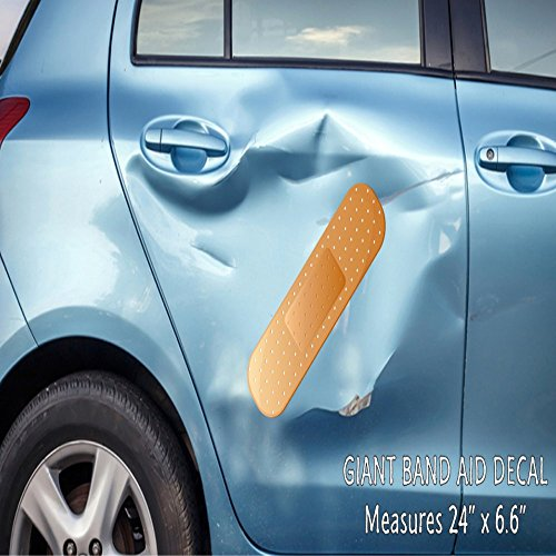 Giant Band Aid Car Decal Vinyl Decal Sticker for Car Truck Vehicle Window -