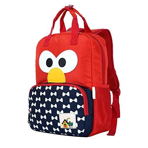 Vbiger Kids Backpack Lightweight Cute Cartoon Preschool Backpack Wear-proof Children School Bag for Kindergarten Student and Pupil (red)