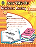 Teacher Created Resources Daily Warm-ups: Nonfiction Reading, Grade 3, 176 Pages (5033)