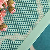 "MF Green Outdoor Patio Metal Mesh 27"" Square Bistro Dining Table for Garden,Backyard,Balcony,Kitchen"