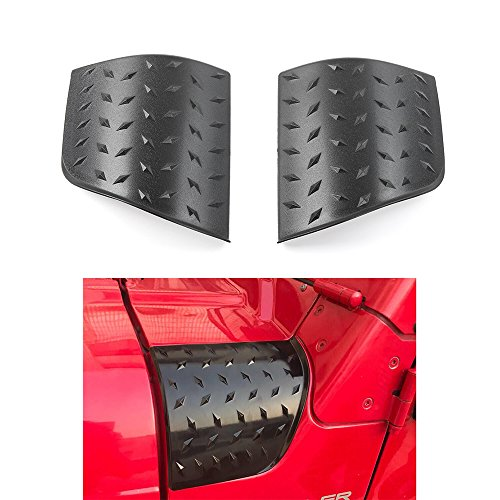 Savadicar Cowl Body Armor Jeep Outer Cowling Cover Corner Guards for 1997-2006 Jeep Wrangler/Rubicon TJ & Umlimited, Black, Pair (Jeep Corner Wrangler)