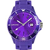 PICONO Purple Time and Date Water Resistant Analog Quartz Watch - No. 01