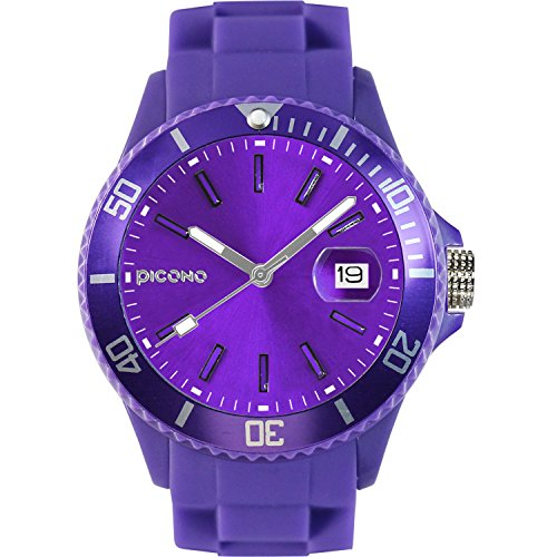 PICONO Purple Time and Date Water Resistant Analog Quartz Watch - No. 01 by PICONO