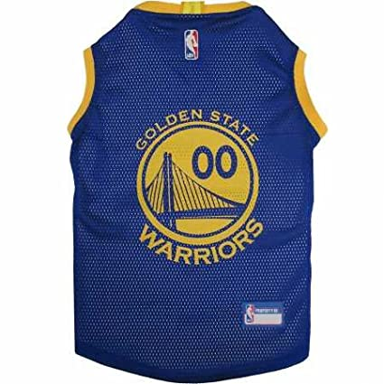 fa78c9427d03 Amazon.com   Pets First Golden State Warriors Dog Basketball Mesh ...