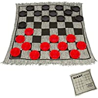 Trademark Innovations 25' Square Giant Checkers Game Rug