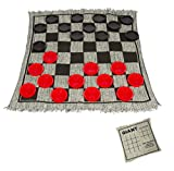 """Trademark Innovations 25"""" Square Giant Checkers Game Rug"""