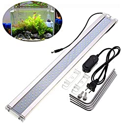 DJLOOKK LED Aquarium Light, High Illumination Fish Tank Light for Freshwater Tanks,with Extendable Brackets,ADE500C