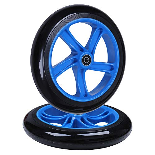 - AOWISH 2-Pack 200mm Adult Teen Kick Scooter Wheels 200 mm (8'') Razor A5 Lux Kick Scooter Replacement Wheel with ABEC-11 Bearings for Commuter City Street Push Kick Scooters (Blue Hub Black Wheel)