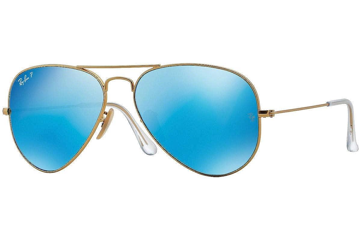 688405d09 Amazon.com: Ray-Ban RB3025 112/4L Aviator Sunglasses Blue Mirror Polarized  Lens 58mm: Clothing