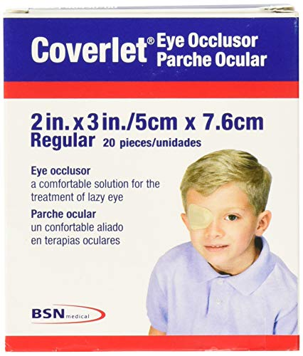 Coverlet Eye Occlusor, Regular Size, 2 Inches X 3 Inches - 20 ea