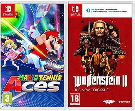 Mario Tennis Aces & Wolfenstein II: The New Colossus: Amazon.es: Videojuegos