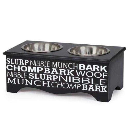 Pet Studio Let's Eat Diner Dual Bowl Platform
