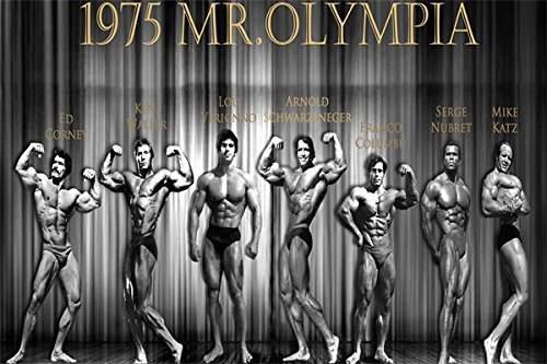 Tomorrow sunny Custom Arnold Schwarzenegger Poster Home Decor 1975 Mr.Olympia Sticker Well Design Franco Columbu Wall paper#1228# -