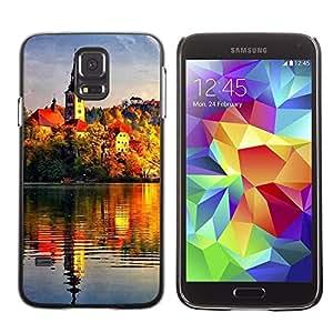 PC/Aluminum Funda Carcasa protectora para Samsung Galaxy S5 SM-G900 Sunset Beautiful Nature 72 / JUSTGO PHONE PROTECTOR
