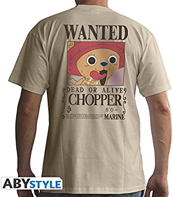 ABYstyle - ONE PIECE - Camiseta - Wanted Chopper - Hombre - arena (S): Amazon.es: Ropa y accesorios