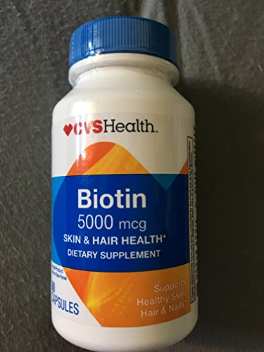 CVS Health Biotin 5000 Mcg Skin & Hair Health 60 Capsules
