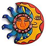 Throwback Traits Sun and Moon Hangings, Outdoor Wall Art and Wood Decor for Summer Beach House, Garden, Living Room, Fireplace as an Outdoor Home Decoration Idea. 8.25 x 8.25 inches Hanging Set.