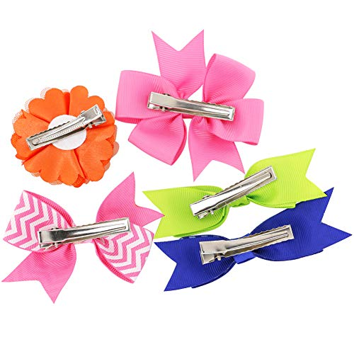 Grosgrain Ribbon Hair Bows Boutique Flowers Clips For Girls Teens Kids Toddlers Set Of 40 by Myamy (Image #6)