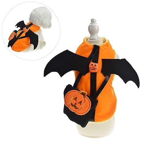 HELEVIA Disfraz murciélago de Gato de Perro de Mascota de ...