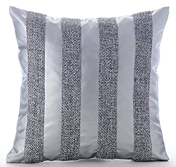 Strange Amazon Com Silver Throw Pillows Cover For Couch Jute Caraccident5 Cool Chair Designs And Ideas Caraccident5Info