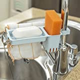 Pink Slime on Shower Curtain LiPing Plastic Simple and Practical Desktop Dishcloth Rack Dish Cloths Rack Suction Sponge Holder Clip Rag Storage For Kitchen Supplies Cleaning Utensils (Blue)