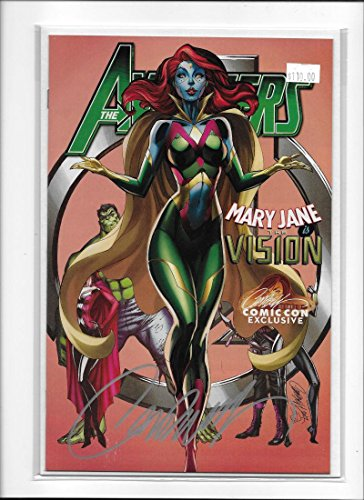 AVENGERS #8 [2017 NM-] J. SCOTT CAMPBELL SIGNED COPY COMIC CON EXCLUSIVE